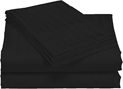 LaxLinen 600 Thread Count Only 1 PCs Duvet Cover Zipper Closure 100/% Egyptian Cotton King Striped White 90 X 102 inches