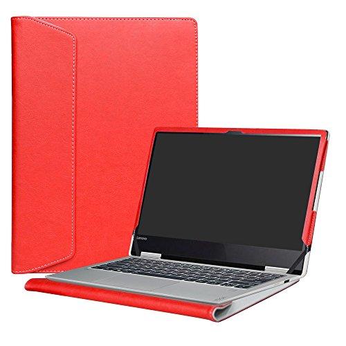 Alapmk Diseñado Especialmente La Funda Protectora de Cuero de PU Para 13.3' Lenovo Yoga 720 13 720-13IKB Ordenador portátil,Rojo