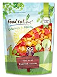 Diced Fruits Mix, 8 Ounces - Contains Dreid and Diced Mango, Pineapple, Papaya. Sweetened, Unsulfured, Candied Vegan Snack, Kosher, Bulk, Great for Culinary Use and Baking