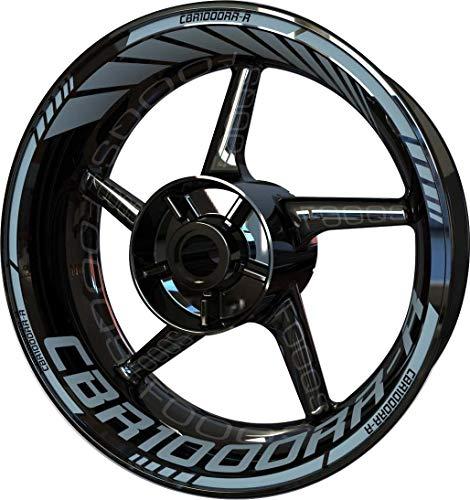 Motocicleta Moto Llanta Inner Rim Tape Decal Pegatinas F2 para Honda CBR 1000 RR-R CBR1000RR-R 1000RR-R (Plata)