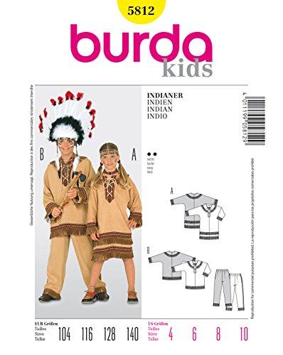 Burda Schnittmuster 5812 Indianer Gr. 104-140