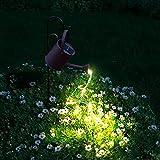 FULLOVE Gießkanne mit Lichterkette Außen, Gartendeko Solar Lichterketten Aussen, Star Shower Garten Leuchten, lichterketten für aussen, Garten Gießkanne Lichter Dekoration, für Außenbereich Garten