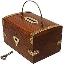 CRAFTSMAN Chritmas Gift/Chritmas Sale Crafts'man Handmade Wooden Money Bank. A Piggy Bank Cum Coin Bank.