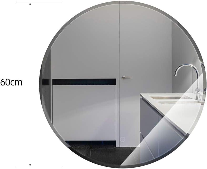 YIZHE LED Badspiegel,Runder Bad Spiegel,Schminkspiegel,Wandspiegel mit Touch-Schalter,Warmwei/ß 3000K,Badezimmerspiegel,Lichtspiegel mit /Ø 60 cm,Badezimmer LED Spiegel