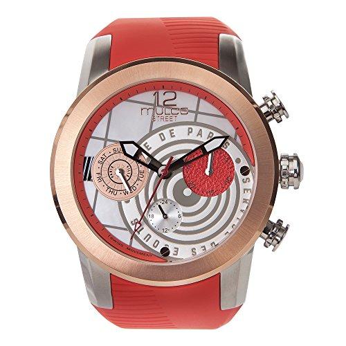 Mulco MW3–15069–533Calle París Collection Rojo Banda de Silicona