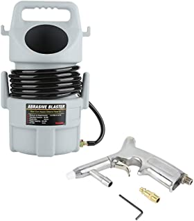 Abrasive Blaster Kit, Portable Pneumatic Sand Blaster Kit Sandblasting Gun Set Paint Rust Remover 15 ft Hose & 50 lb. Hopper