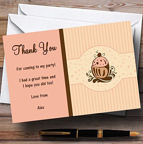 Party Thank You Kaarten Chocolade Cupcake Vintage Thee Gepersonaliseerde Partij Met Enveloppen - Elke Aangepaste Tekst Voor Elke gelegenheid 200 Cards & Envelopes