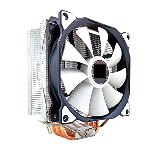 CPU Cooler 6 Tubos de Calor 120 mm 4 Pin PWM RGB para Intel LGA 1200 1150 1151 1155 2011 AMD AM4 AM3 CPU FANE DE ENFRIENCIA PC SILLAD (Blade Color : No Light 1 Fan, Blade Quantity : 4 Pin PWM)
