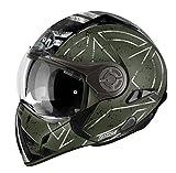 Airoh Casco para motociclista, color Verde (Command Verde), talla 54-XS