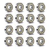 YIXISI 20 Piezas 608 ZZ Rodamiento de Bolas, 608 ZZ Rodamientos de Metal de Doble Blindaje en...