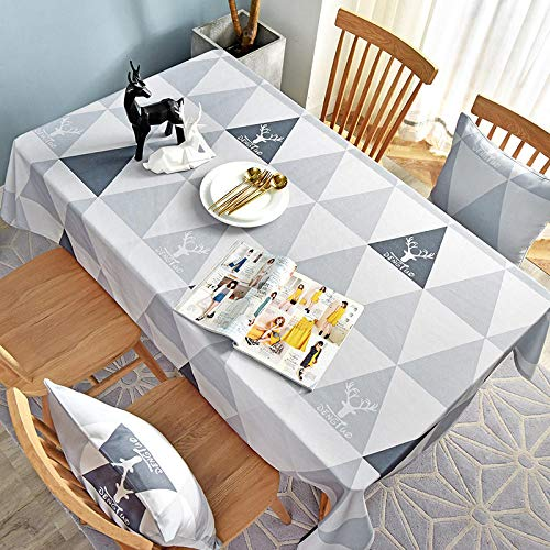 XIAOBAO Tablecloth,Oil-proof table runner tablecloth, rectangular tablecloth for dining table-J_140*220cm,Wipe Clean Tablecloth