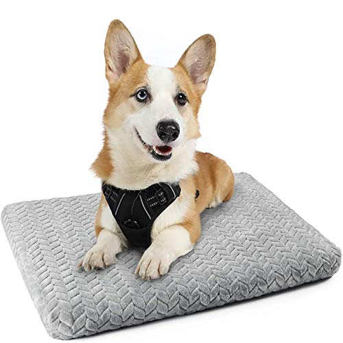 """rabbitgoo Dog Harness Small and Dog Crate Bed 29"""" x 21"""" Bundle Set - Adjustable No-Pull Pet Vest with Handle and Leash Clips - Machine-Washable Pet Kennel Bed with Anti-Slip Bottom & Removable Cover"""