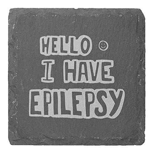 Azeeda 4 x 'Epilepsy' 10cm Quadratische Schieferuntersetzer (CR00179395)