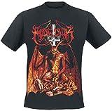 Photo de Marduk Demongoat Homme T-Shirt Manches Courtes Noir XL, 100% Coton, Regular/Coupe Standard