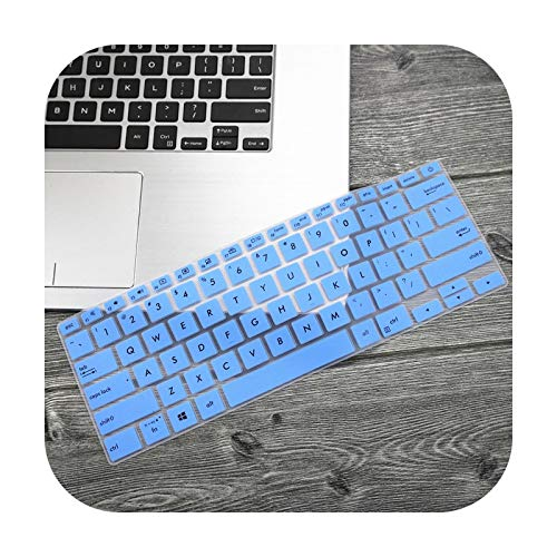 Teclado protector de pantalla de 14 pulgadas para Asus Zenbook 14 Ux433 Ux433Fn Ux433Fa8265 2019 - Funda con teclado de piel de protección – azul