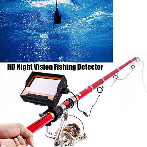 MROSW 15M-viszoeker, video, onderwatervissencamera, met 4,3 inch display, nachtzicht, voor ijsvissen, winter, zomer, onderwater