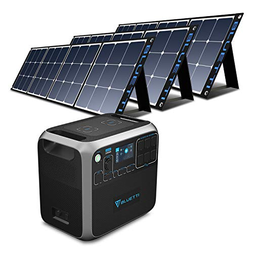 BLUETTI AC200P 2000Wh Portable Power Station Bundle with 3pcs 200W Solar Panel, 2000W Solar Generato