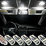 Luces LED 4014 SMD para iluminación interior de coches, set de 6 unidades, xenón blanco con bus CAN, no genera mensaje de error
