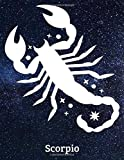 Scorpio: Zodiac Signs Gift, Horoscope, Journal, Notebook, Diary, Pad, Daybook, Textbook, Handbook, Workbook, Dailybook, Album, Essay, Note (100 pages, Blank, 8.5' x 11' in)