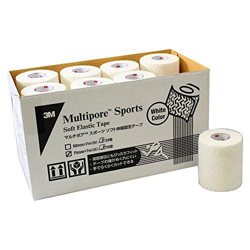 3M(スリーエム) エラスティック テーピング マルチポアスポーツ ソフト ホワイト 75mm 16巻 252075