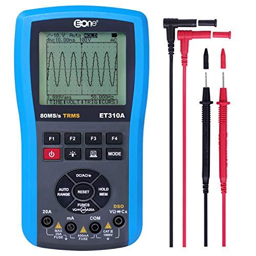 EONE oszilloskop multimeter digital Ohm Tisch Frequenzmesser 4 in 1 messen AC/DC Spannung, AC/DC Strom, Widerstand, Kontinuität, Kapazitanz, Frequenz, Tests Dioden, Transistoren, LED-Großbildanzeige