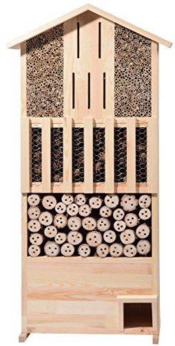 dobar 22697e Hôtel à Insectes-Mural avec abri pour hérisson en Bois de pin Massif, 30 x 58 x 120 cm, XXL