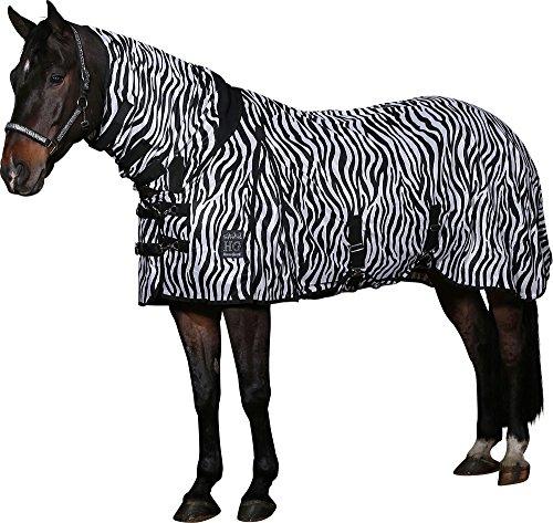 Horse Guard Fliegendecke Zebra mit elastischem Einsatz