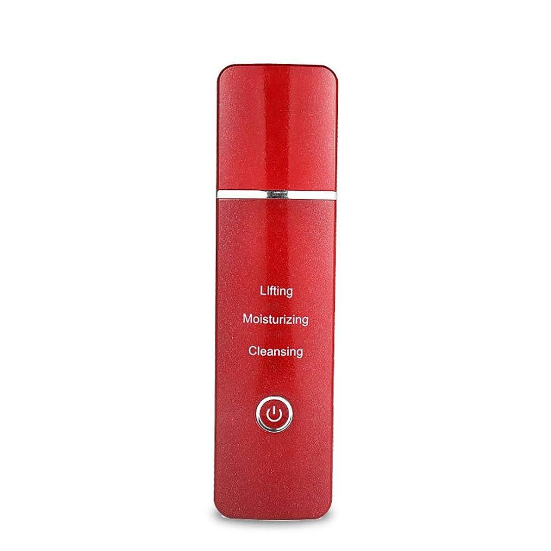 消費者塩辛い音声しわや肌の若返りのためのアイマッサージャー、イオン注入-ダークサークル浮腫の目、EMS美容器具を緩和-red