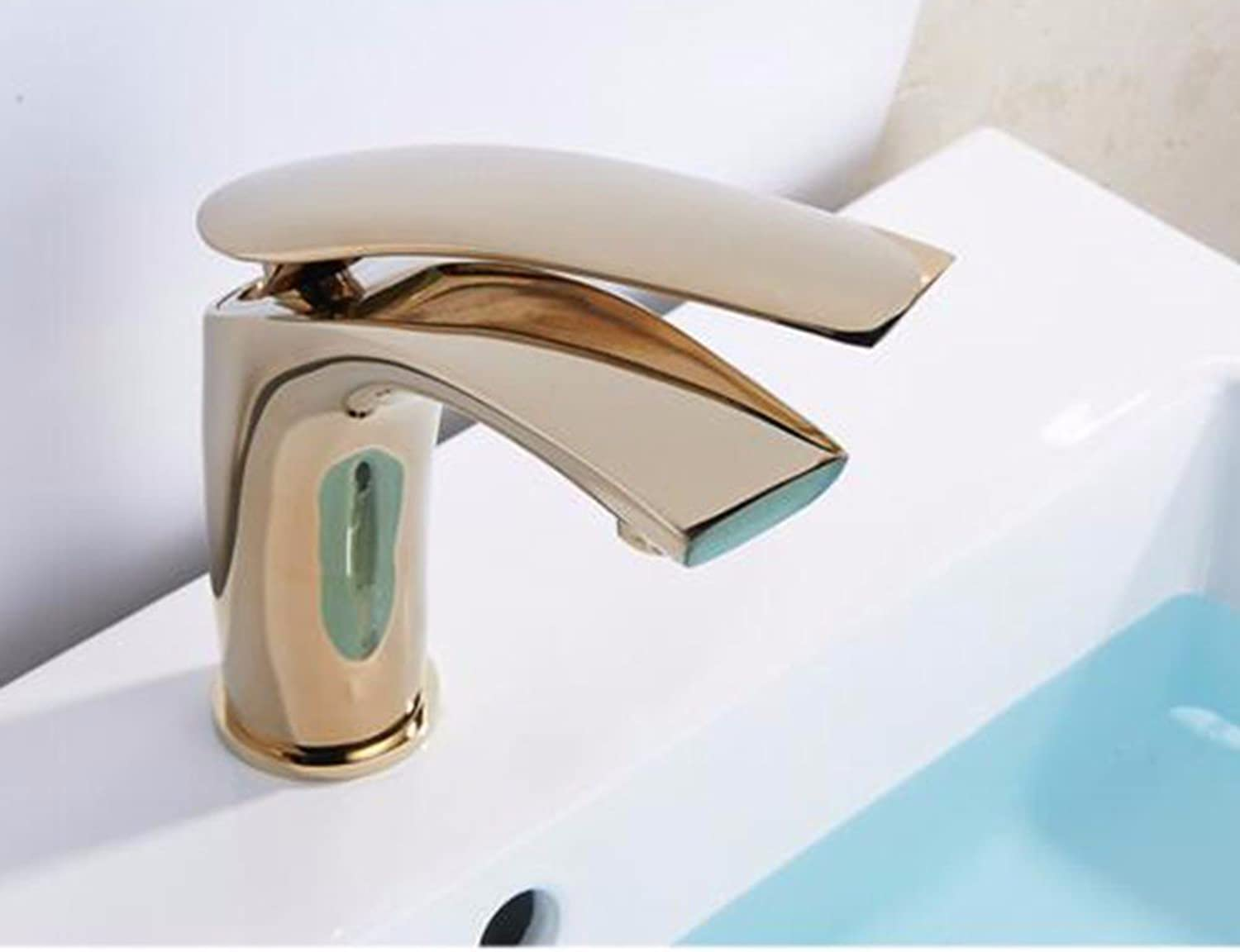 Hlluya Professional Sink Mixer Tap Kitchen Faucet Modern gold faucet, surface basin with high water taps, bathroom cabinets and cold water taps,