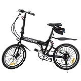 Ridgeyard Bicicleta Plegable 20 Pulgadas de 6 velocidades Bici Plegable + Luz de la batería del LED...