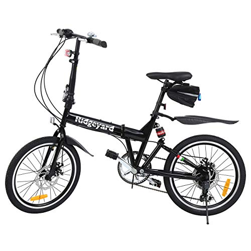 Ridgeyard Bicicleta Plegable 20 Pulgadas...