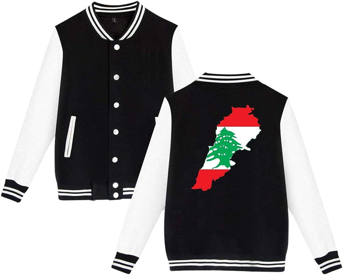 Flag Map of Palestine Unisex Double-Sided Printing Baseball Uniform Slim Fit Sport Jersey Outwear Plus Velvet Black