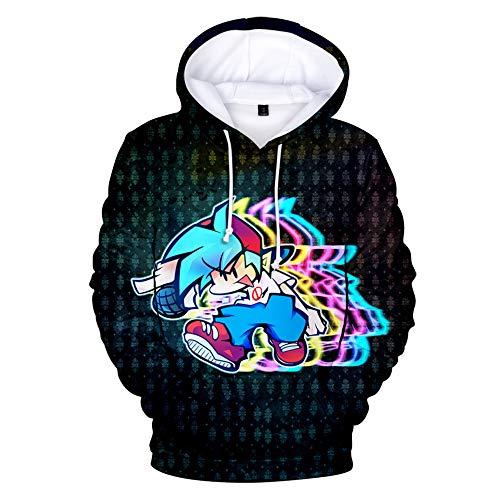 Friday Night Funkin Hoodie Boyfriend/Girlfriend Pullover Sudadera Cosplay Chaqueta Hot Game Manga Larga Hop Hop Streetwear Abrigo Tops para niñas Niños Niños Mujeres Hombres