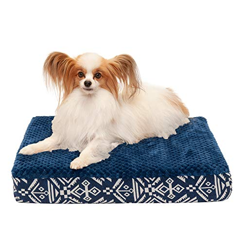 Furhaven Pet Dog Bed | Deluxe Orthopedic Mat Plush Kilim Traditional Foam Mattress Pet Bed