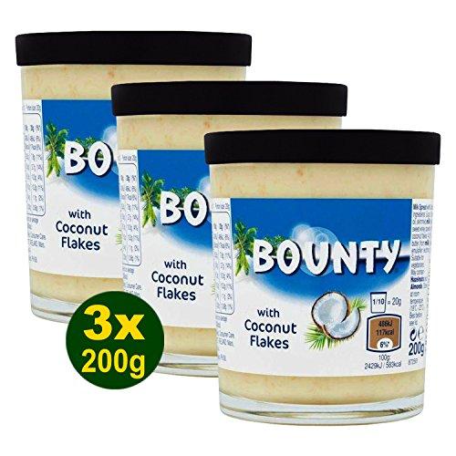Bounty Milk Chocolate Spread with Coconut Flakes 3x 200g (600g) - süßer Brotaufstrich
