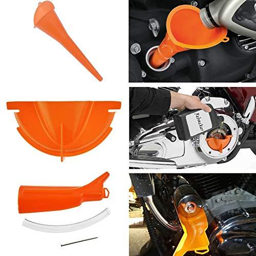 evergremmi Einfülltrichter, Kurbelgehäuse Einfülltrichter Primärgehäuseöl Einfülltrichter-Set tropffrei für Harley-Motorrad-Primärgehäuse-Kunststoffe Primäröl-Kurbelgehäuse