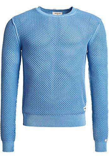 Preisvergleich Produktbild khujo Herren Pullover ICAR aus Baumwolle Rundhals Strickpullover mit verwaschener Optik