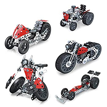 RVEE STEM Metal Erector Set 5 in1 Building Model Construction Vehicle Toys for Kids Boys Adults 8 Years and up Engineering Series