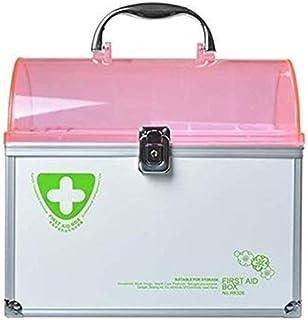AINIYF Household Portable Medicine Box Multi-Layer Medical First Aid Kit Medicine Storage Box Medicine Box (Color : Pink)