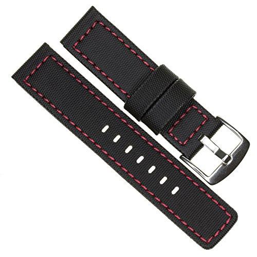 22mm MARATAC Elite Series Black PVC Rubber Strap...