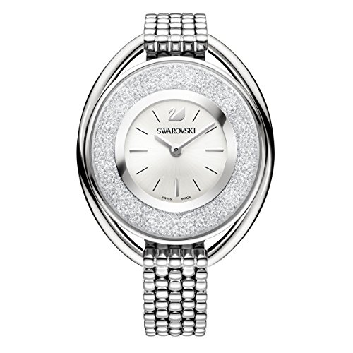 Swarovski Reloj Crystalline Oval, brazalete de metal, acero inoxidable, para mujer