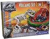 Clementoni 19064 Clementoni-19064-T-Rex Ausgrabungsset + Vulkanausbruch, Mehrfarbig -