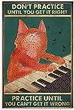 APAZSH Laminas para Cuadros Póster Vintage Pianista Room0807 póster Pintura Decorativa Lienzo Pared Arte Poster Pintura 60x90cm x1 Sin Marco
