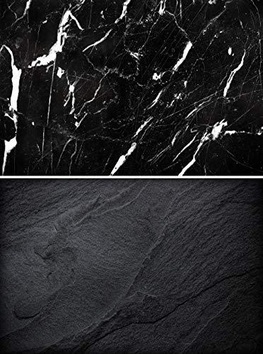 KonPon 83 x 55 cm, doble cara, fondo de mármol, textura neg