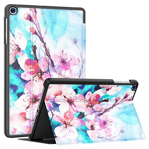 Soke Galaxy Tab A 10.1 Case 2019, Premium Shock Proof Stand Folio Case,Multi- Viewing Angles, Soft TPU Back Cover for Samsung Galaxy Tab A 10.1 inch Tablet [SM-T510/T515/T517],Peach Blossom