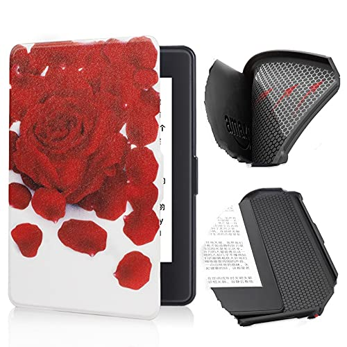 QTSUANNAI Estuche para Kindle Paperwhite 2/3/4 Print - Auto Sleep Wake E-Book Shell,Ultra-Thin E-Reader Protective Cover,Portable E-Reader Cover For Kindle 10th Silicon Case,Rose Petal,for DP75SD
