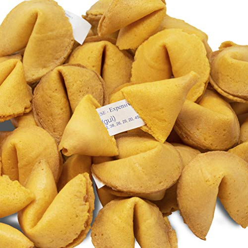 100 Individually Wrapped Fortune Cookies- Bulk Order of Tasty Fresh Fortune Cookies by American Heritage Industries (100)