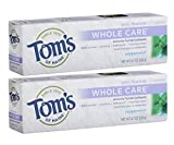 Tom's of Maine Whole Care Fluoride Toothpaste, Natural Toothpaste,...