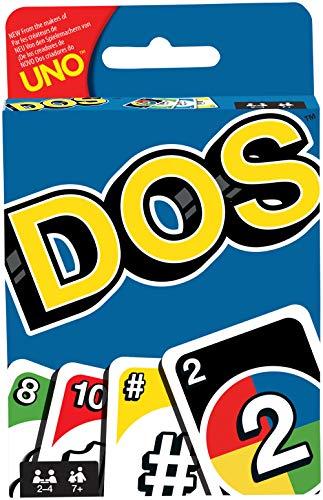 Juegos Mattel-DOS uno Juego de cartas de UNO, multicolor, (FRM36)