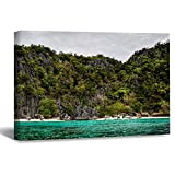 DKISEE WPW593 - Lienzo de playa (50 x 76 cm), diseño moderno de paisaje para pared